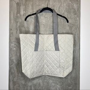 DSW | Gray Quilted Tote Bag with Zipper